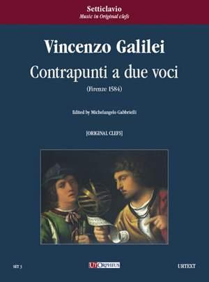 Galilei, V: Contrapunti a due voci (Firenze 1584) [original clefs]