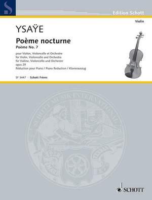 Ysaÿe, E: Poème nocturne op. 29