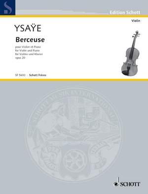 Ysaÿe, E: Berceuse op. 20