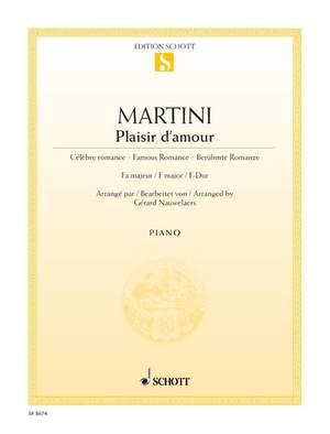 Martini, J P E: Plaisir d'amour F major Product Image