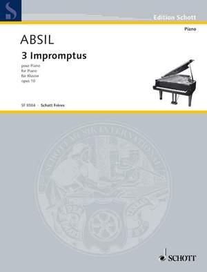 Absil, J: Three Impromptus op. 10
