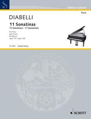 Diabelli, A: 11 Sonatines op. 151 + 168