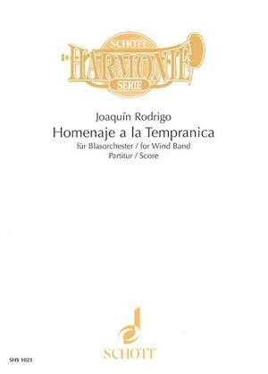 Rodrigo, J: Homenaje a la Tempranica
