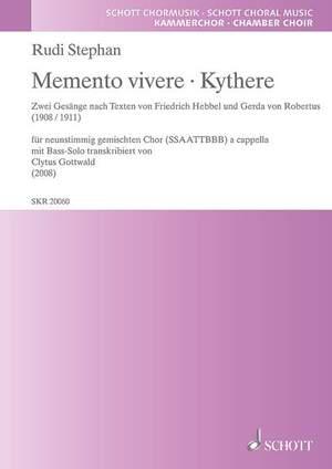 Stephan, R: Memento vivere ·  Kythere