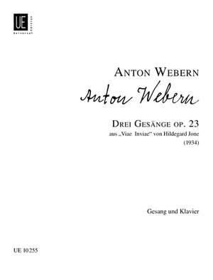 Webern, A: 3 Songs op. 23