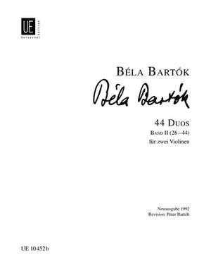 Bartók, Béla: 44 Duets Band 2