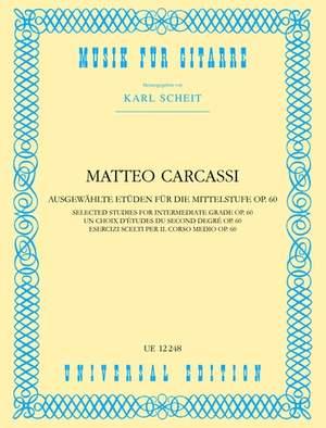 Carcassi, M: Studies of Medium Difficulty op. 60