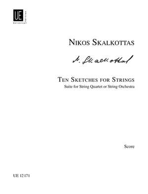 Skalkottas Niko: Skalkottas Ten Sketches Str Score A/k 38