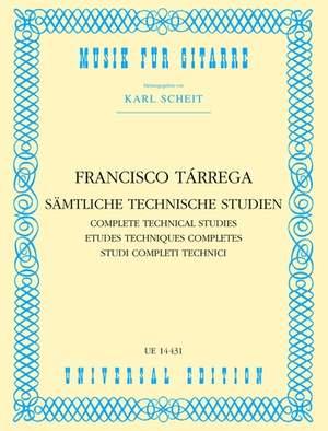 Tárrega, F: Selected Technical Studies