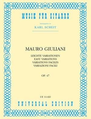 Giuliani Mauro: Easy Variations Op.47 op. 47