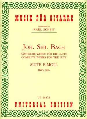 Bach, J S: Bach Js Suite Emin Bwv996 Gtr Bwv 996