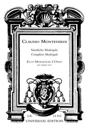 Monteverdi:  Ecco Mormorar L'onde Mix Vce