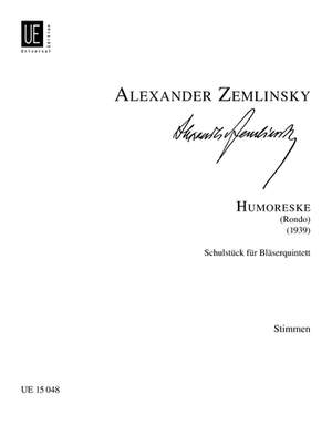 Zemlinsky: Humoreske Parts