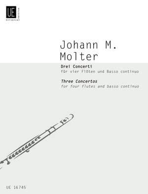 Molter, J M: Molter Drei Concerti 4 Fl Bc