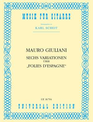 Giuliani Mauro: Giuliani 6 Variationen S Gtr Op. 45