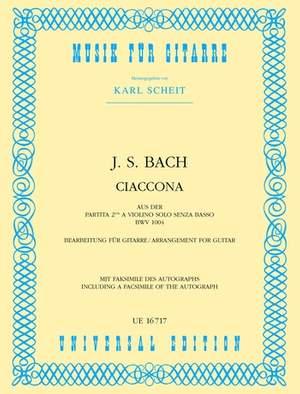Bach, J S: Bach Js Ciaccona S Gtr Aus Bwv 1004