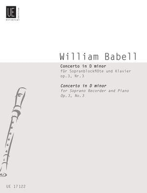 Babell, W: Recorder Concerto in D minor Op.3/3