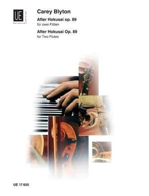 Blyton Carey: Blyton After Hokusai 2fl Op. 89