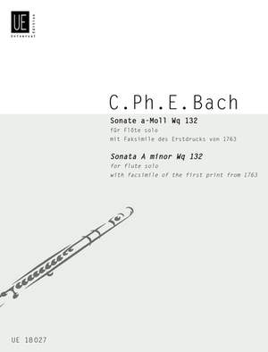 Bach, C P E: Sonate Amin S.flute Wq. 132