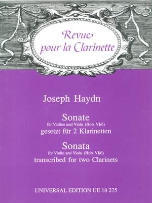 Haydn, J: Haydn Sonate 2clar Hob. Vi:6