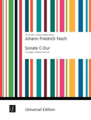 Fasch Johann Fr: Fasch Sonate Cmaj Bsn Pft
