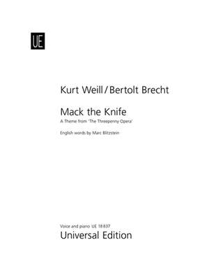 Weill, K: Mack the Knife