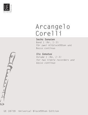 Braun Gerhard: Corelli Six Sonatas I 2tre.rec Bc Band 1