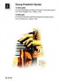 Händel Georg Fr: Handel 12 Minuets Des.rec Pft
