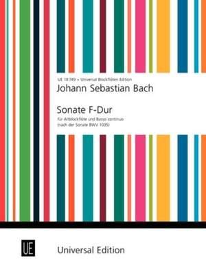 Bach, J S: Bach Js Sonate Fmaj Tre.rec Bc Bwv 1035