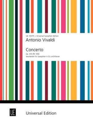 Rae, James: Vivaldi Concerto Op3/6 Alto.sax Pft.red Op. 3/6 Rv 356