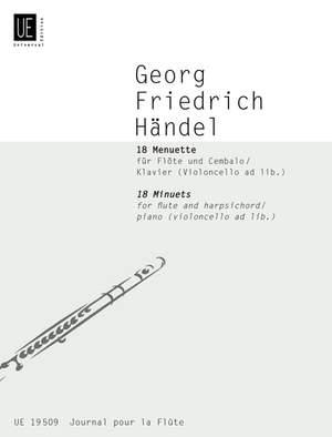 Händel Georg Fr: Handel 18 Minuets Fl Pft Vc Ad Lib Band 29