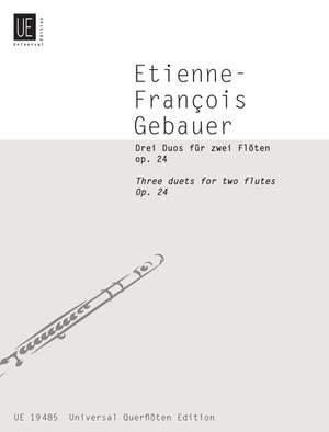Braun Gerhard: Gebauer Three Duets Op24 2fl Op. 24