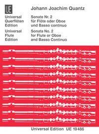 Quantz, J J: Quantz Sonate No.2 Fl Bc