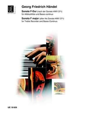 Händel Georg Fr: Sonata nach HWV 371