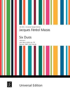 Mazas, J: Mazas Kleine Duos Op39/2 2vln Op. 39 Band 2