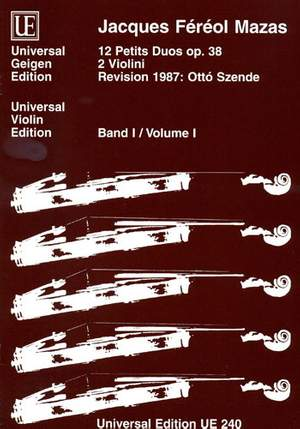 Mazas, J: Mazas Kleine Duos Op38/1 2vln Op. 38 Band 1