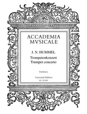 Hummel, J N: Concerto for trumpet and orchestra
