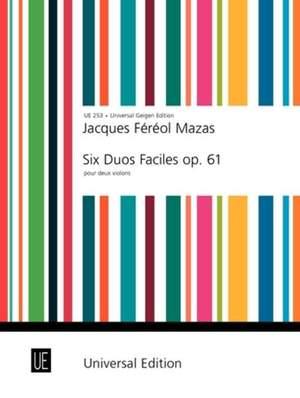 Mazas: 6 Duos faciles Op. 61