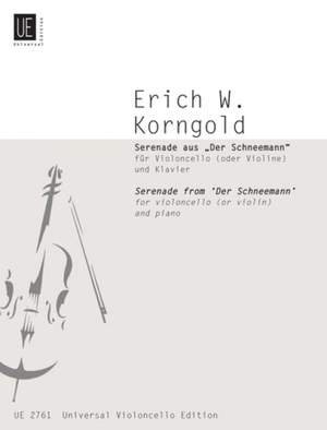 Korngold, E W: Serenade from The Snowman