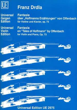 Drdla, F: Drdla Fantasia On Tales Op73 Vln Pft Op. 73