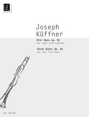 Kueffner, J: Kuffner Three Duets Op81 2clar Op. 81