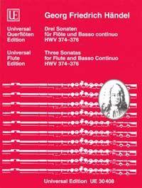 Händel Georg Fr: Handel Three Sonatas Fl Bc Hwv 374-376