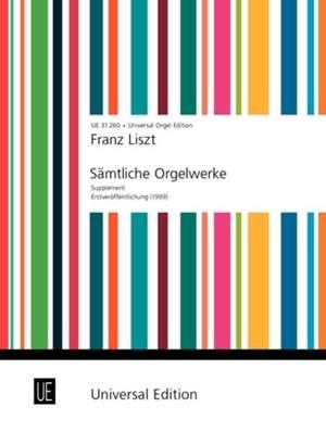 Liszt, F: Liszt Weinen Klagen Sorgen Prelude Org Supplement