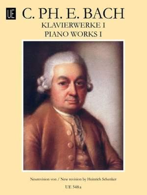 Bach, C P E: Klavierwerke Book 1 Product Image