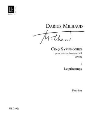 Milhaud, D: Milhaud Le Printemps Score Op. 43