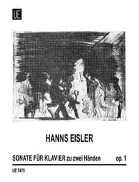 Eisler, H: Sonate Op.1