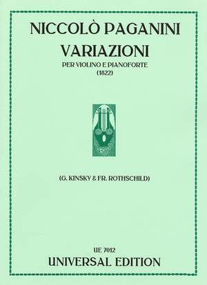 Paganini, N: Variations