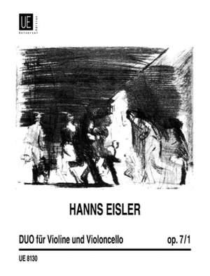 Eisler, H: Duo Op7 Vln Vc Op. 7/1