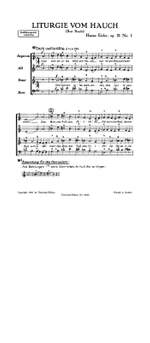 Eisler, H: Liturgie Vom Hauch Op21/1 Satb Op. 21 Band 1 Product Image