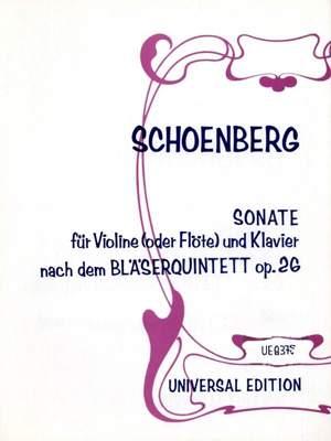 Schoenberg, A: Sonate Vln(or Fl) Pft